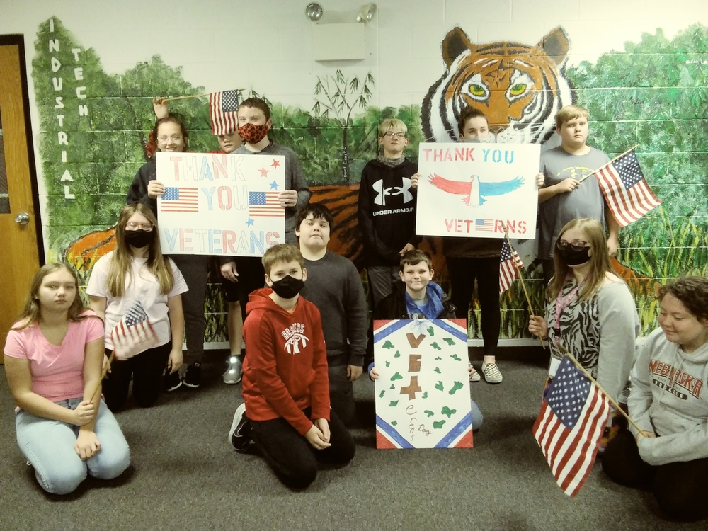Falls City Middle School Students Pay Tribute to Our Veterans