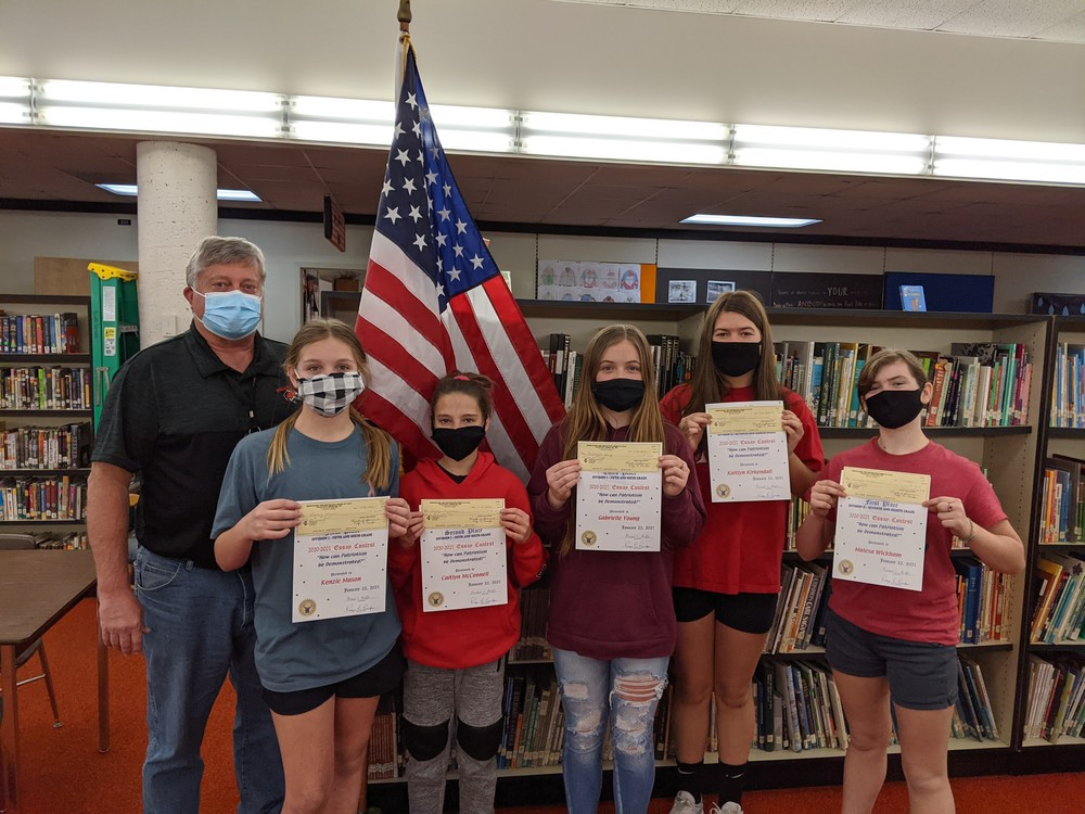FCMS Students Place in the Elks Americanism Essay Contest